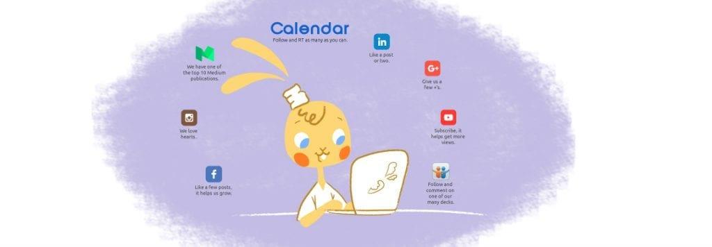 calendar social media
