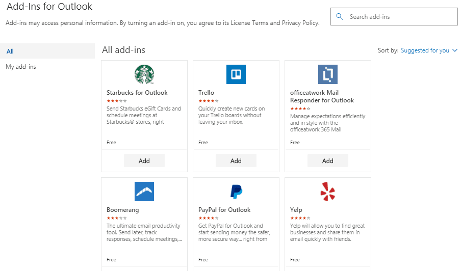 office 365 calendar add ins