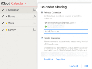 apple calendar sharing