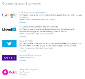connect to social networks