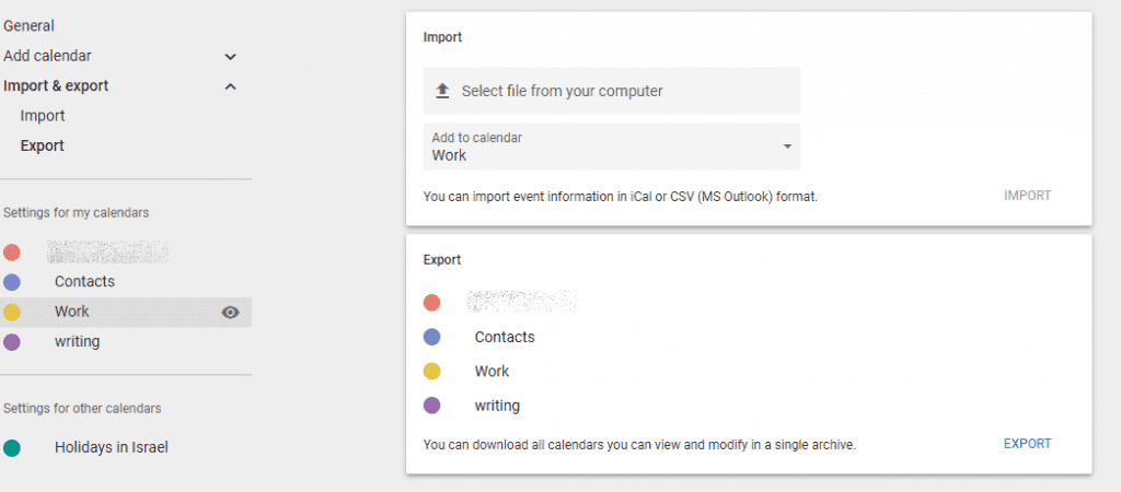gmail export to office 365 calendar