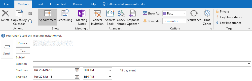outlook calendar meetings