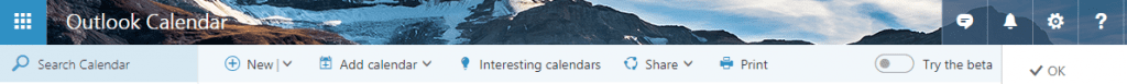office 365 calendar theme strip