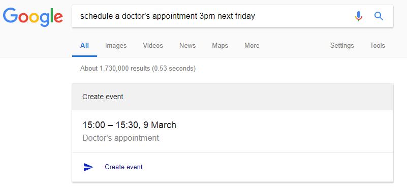 add google calendar event from google