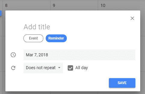 create google calendar reminder website