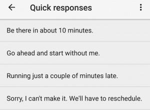 google calendar app quick responses