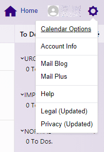 yahoo calendar options