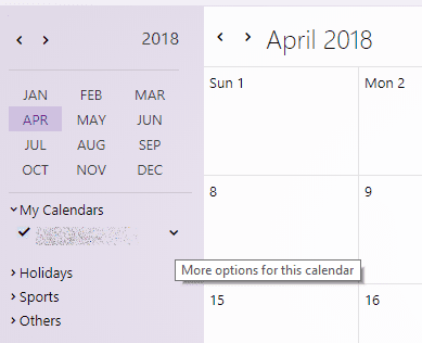 import new yahoo calendar