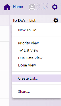 yahoo calendar to do create list