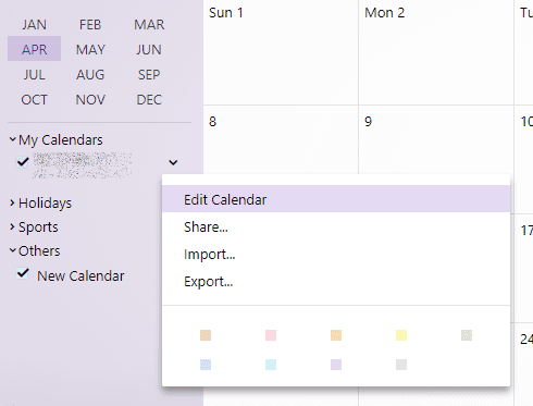 edit yahoo calendar