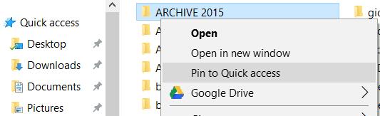 Quick Access menu can improve productivity