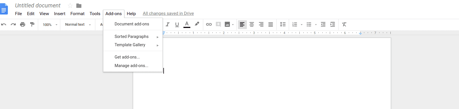 Installed Add-ons in Google Docs