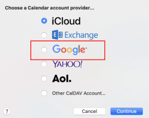 Google events to Mac Calendar