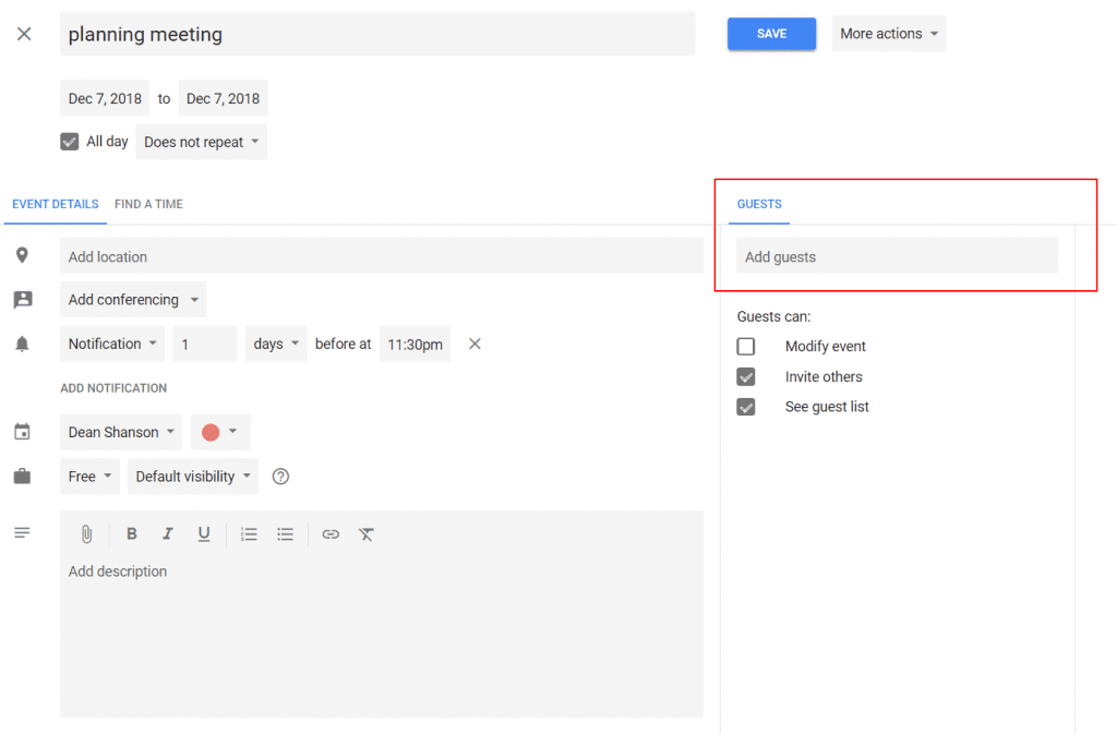 How To Send A Calendar Invite How to Send a Google Calendar Invite   Calendar