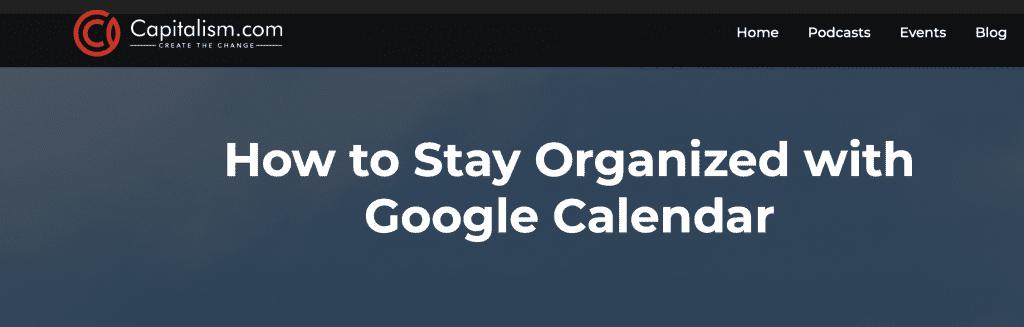 GoogleCalendarOrganization