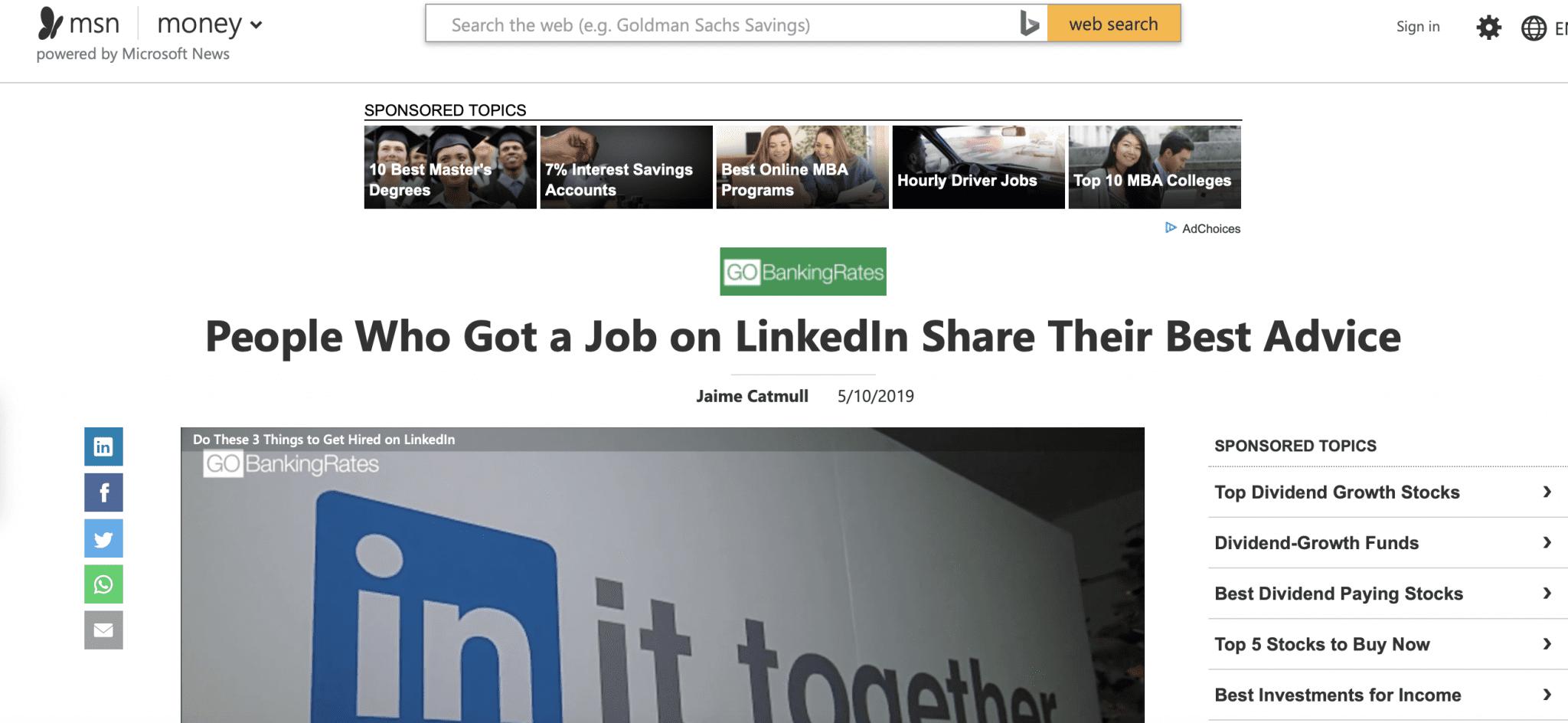 LinkedIn career planning