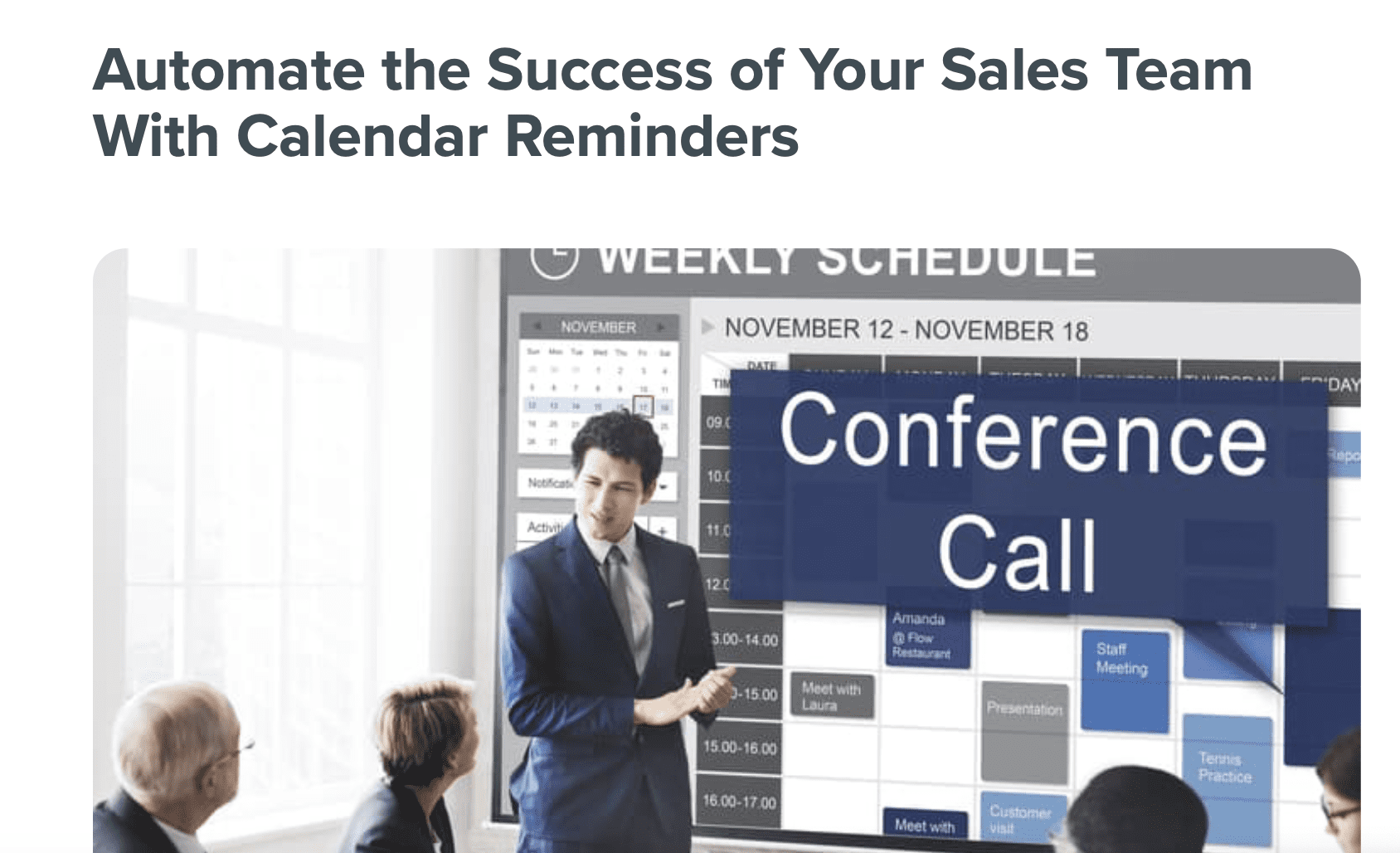 automated calendar reminders