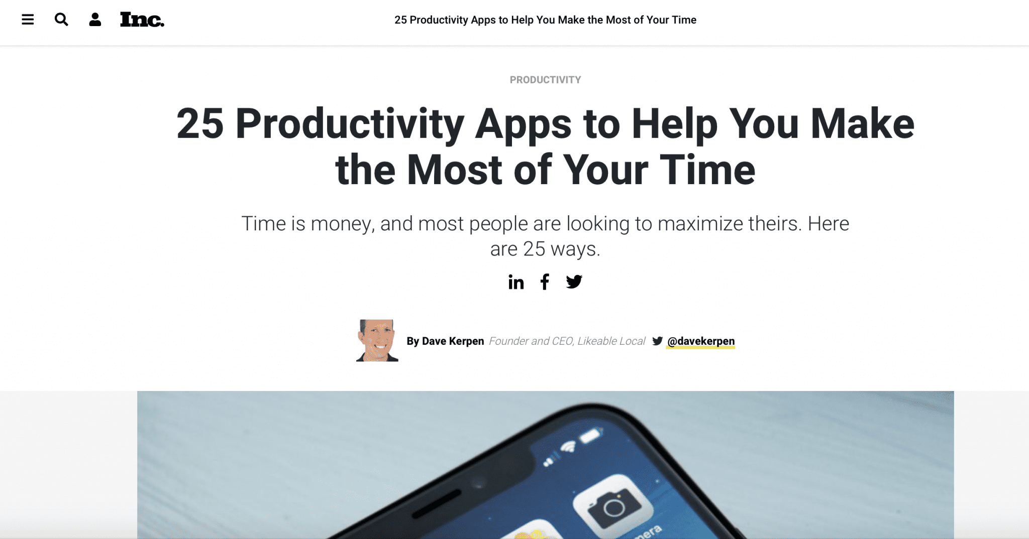 calendar productivity app