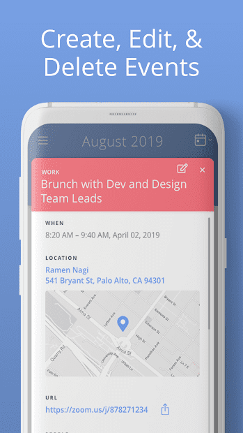 Calendar Android App Events