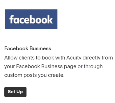 add booking option to Facebook