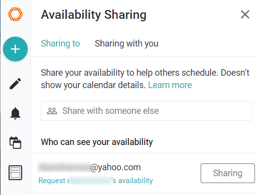 availability sharing, sharing with you, woven
