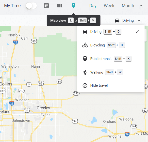 combine calendar to map, woven