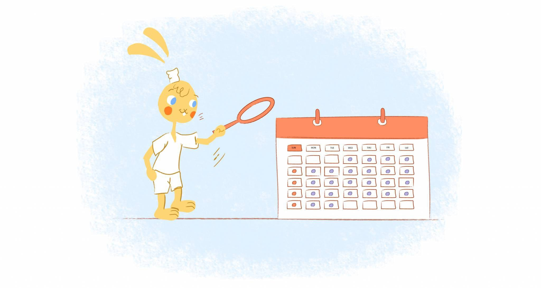 housekeeping chores on your calendar